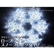 【クリスマスイルミネーション】スノーフレークロープライト